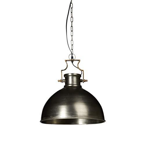 Relaxdays Hängeleuchte Industrie matt groß HBT ca. 145 x 40,5 x 40,5 cm Hängelampe mit großem glockenförmigen Lampenschirm im Industriestil Pendelleuchte aus Metall Pendellampe E27 bis 40W, anthrazit