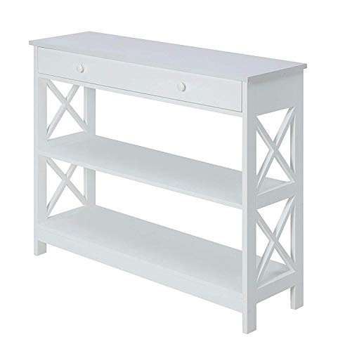 Convenience Concepts Oxford 1 Drawer Console Table, White