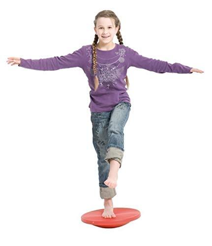GYM TOP Therapiekreisel Wackelbrett Balance Board ROT 39,5 cm +Übungsanleitung
