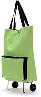 BianchiPatricia Large Capacity Waterproof Oxford Cloth Foldable Shopping Trolley Wheel Bag