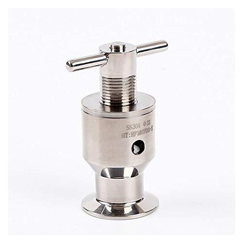 caja de batería marina Tubo de diámetro exterior de 32 mm SUS304 1.5' Tri Clamp Sanitaria presión ajustable de la válvula de escape de seguridad 0,5-6 bar de escape de la válvula de ventilación