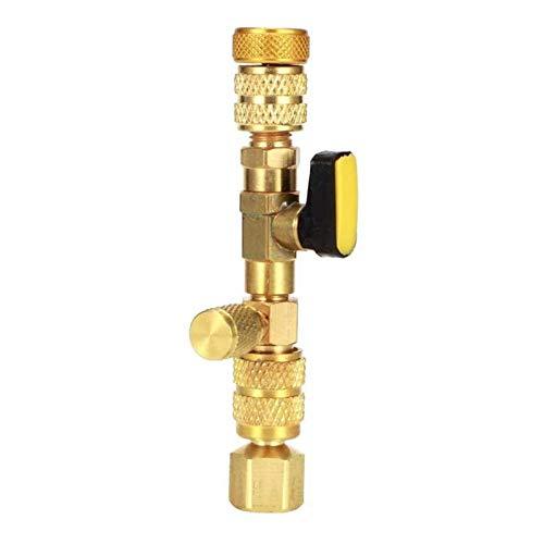 RJJX Ventilkernentfernerwerkzeug 1/4in 5 / 16in Serviceanschlüsse Fit für HVAC/AC/Schrader Demontage Messing HVAC AC Remove Tool Autozubehör
