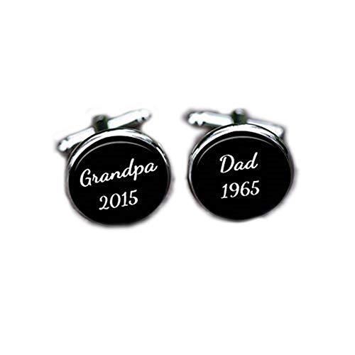 Bloody devil Manschettenknöpfe für die Hochzeit, Opa, Vater, personalisierbar, Geschenk für Großeltern, Glas, einzigartiges Geschenk zur Geburt