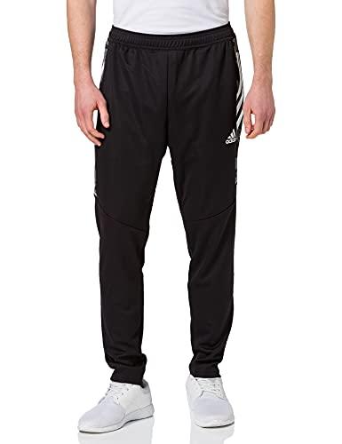 adidas CONDIVO21 PRIMEBLUE, Pantaloni della Tuta Uomo, Nero Bianco, L