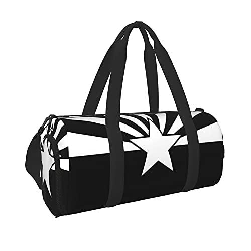 Schwarze Arizona Flagge Sport Turnbeutel mit Nassfach & Schuhfach Reisetasche Seesack für Herren Damen, Schwarz , Einheitsgröße,