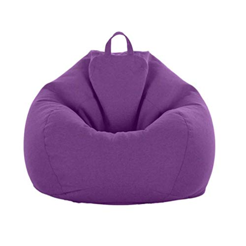 Juner Sitzsäcke Bean Bag Chair Cover 2020 Series Bean Bag Chair Bedroom Adult Comfy Sofa (There Are Four Size Options) 8808801(Size:100CM)