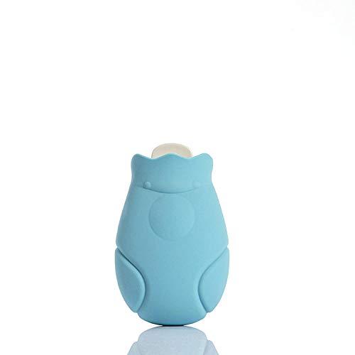 Generieke Rubber Water Vullen Hot Water Fles Verwarming Paleis Mini Leuke Gift Thermos-Blauw