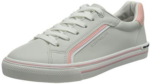 TOM TAILOR Damen 1194203 Sneaker, Offwhite-Coral, 37 EU