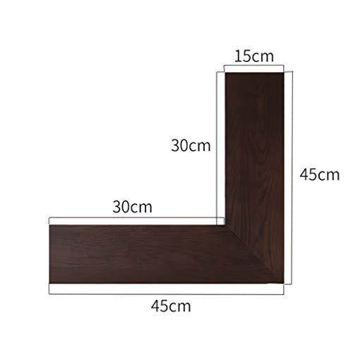 Wall Shelf Floating Shelf Wandplank, hoekplank van massief eiken - hout om op te hangen aan de muur, drijvende planken, opbergtafel, boekenrek, laden, presentatiestandaard, slaapkamer, kantoor, woh C