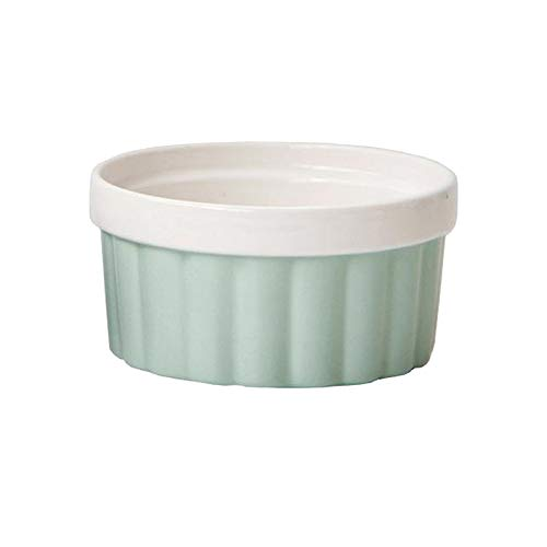 Baoblaze Soufflé de cerámica para Hornear Crema Brulee Postre pudín Helado, Adecuado para Fiestas, restaurantes, Bares - Verde
