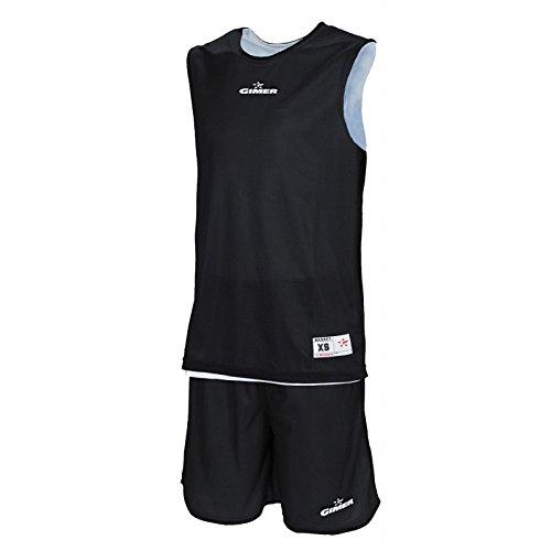 GIMER 2/240Kit, Kit Basket Mixte Adulte M Noir Blanc