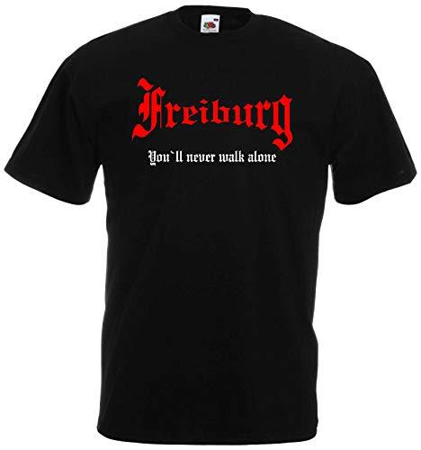 world-of-shirt Herren T-Shirt Freiburg You`ll Never Walk Alone