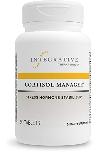 Cortisol Manager - Integrative Therapeutics - Sleep, Stress, and Cortisol Support Supplement with Ashwagandha, Magnolia, and L-Theanine - Support Adrenal Health - Vegan - 90 Tablets