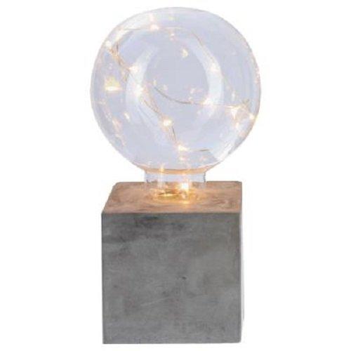 Lampe ampoule microled sur socle 18 cm