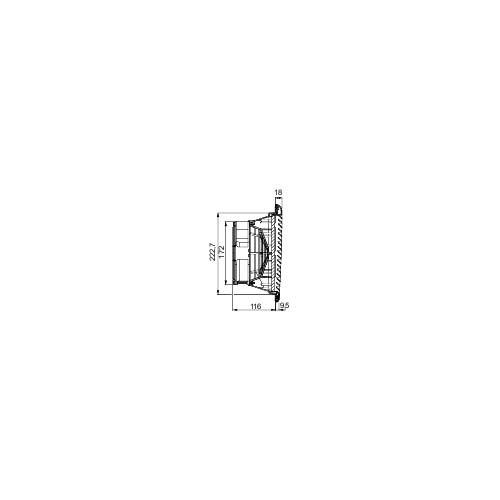 Schneider Electric NSYCVF300M115PF Ventilador Forzado ClimaSys, IP 54, 300 m3/h, 115 V, con Rejilla de Salida y Filtro G2, Gris