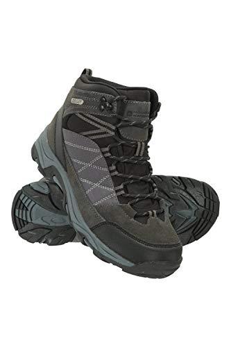Mountain Warehouse Rapid Wasserfeste Stiefel für Damen - Wanderschuhe aus Wildleder und Netzstoff, Schuhe, Wanderstiefel mit Gummilaufsohle - Für Reisen, Camping Schwarz Jet 39 EU