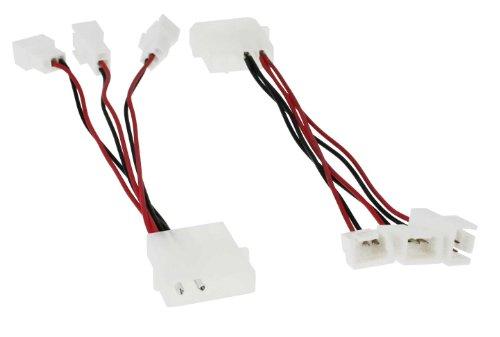 InLine 33005A Lüfter Adapterkabel, 12V zu 5V, für 3 Lüfter
