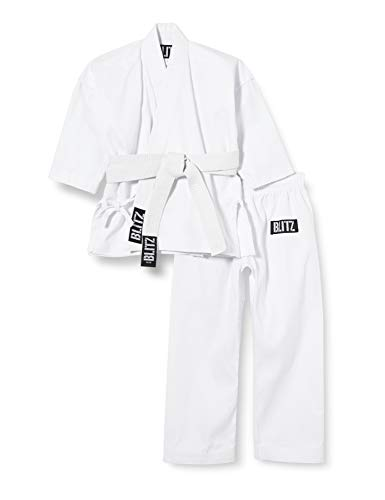 Blitz - Traje de Karate (algodón, 110 cm), Color Blanco