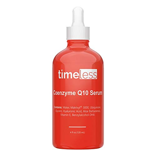 Timeless Skin Care Coenzyme Q10 Serum - 4 oz - Powerful Anti-Aging Formula - Includes Coenzyme Q10, Matrixyl 3000 & Hyaluronic Acid - Restore & Replenish Skin, Smooth Wrinkles - All Skin Types