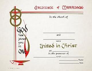 证书 - 婚姻上帝已加入(6 个装)