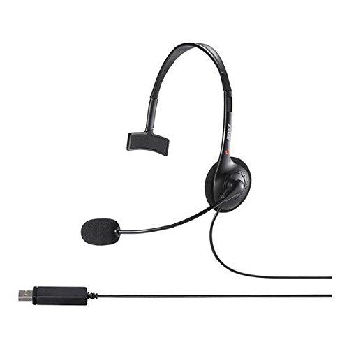 バッファロー BSHSHUM110BK 片耳ヘッドバンド式ヘッドセット USB接続