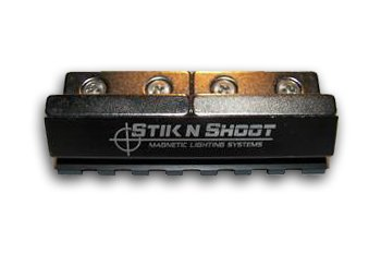 Stik N Shoot 3' Magnetic PICA=TINNY Rail System - Rare Earth Magnets PULLS 108lb's Pressure- Military 1913 Picatinny Rail- Portable Gun Light System- Laser Mount- Scope Mount,-NIGHTIME Hunting