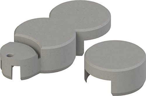 Bio-Rasenkante RKS-GRANITGRAU-SET 2 Rasenkantensteine, 22 x 10 x 5,5 cm, granitgrau