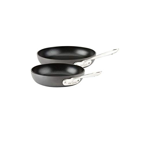 All-Clad E785S264/E785S263 HA1 Hard Anodized Nonstick Dishwasher Safe PFOA Free 8 and 10-Inch Fry Pan Cookware Set, 2-Piece, Black