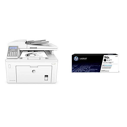 HP M148fdw Laserjet Pro - Impresora Multifunción (Laser, Wi-Fi, 28 ppm 1200 x 1200, dpi, Mono Printing, 260 Hojas, A4) + Toner Negro 94A Laserjet, 1200 Hojas