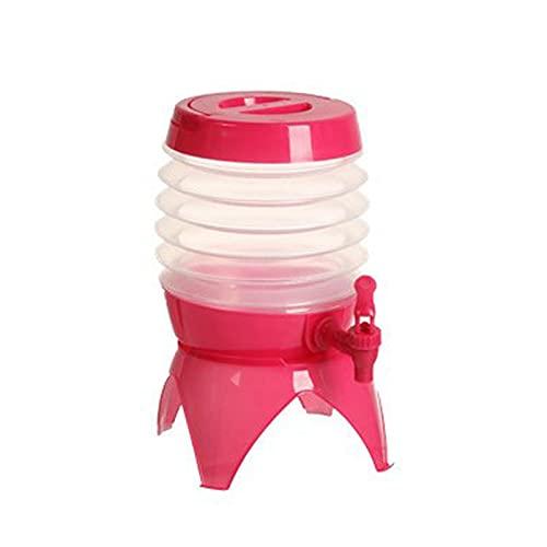 Bidón plegable de 5,5 l, para agua potable plegable con grifo, depósito de agua para senderismo, camping, picnic, viajes, barbacoa