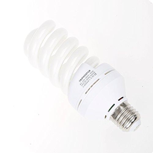 Professionelle Fotografie LED E27 Leuchtmittel (65 W, 5.500 K), flimmerfrei, Softbox, für Foto Studio und Online Celebrity, für Portrait und Artikel zu Beleuchtung (45W Energiesparlampen (5500k))