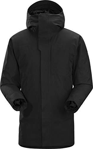 Arc'teryx Therme Parka Men's | Everyday Waterproof GORE-TEX Parka with Synthetic and Down Insulation | Black, X-Large