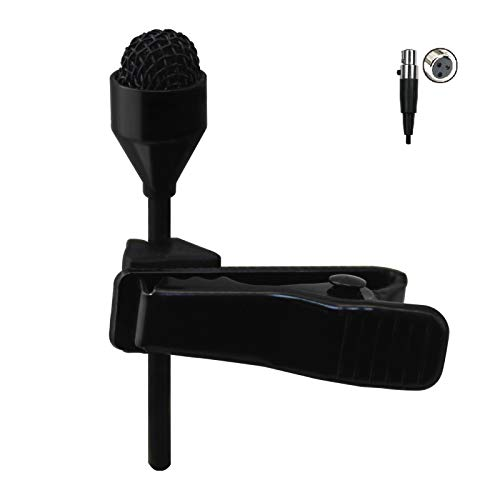 JK MIC-J 044 Lapel Microphone Lavalier Microphone Compatible with AKG Samson Wireless Transmitter - Mini XLR TA3F Plug