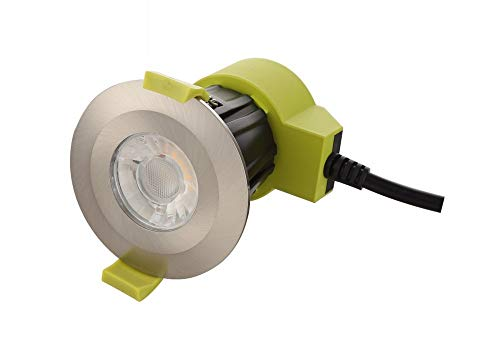 Inspired Dlux - Bazi - Dimmable LED Recessed Downlight, Satin Nickel, 38 deg. Beam Angle, 800lm, 4000K, IP65, Driver Included