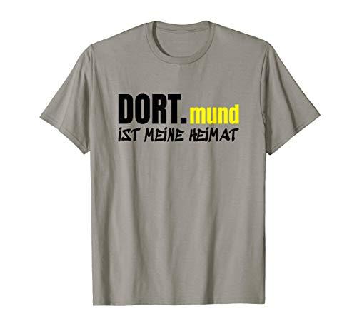 Dortmund T-Shirt Meine Heimat Schwarz Gelb Bier Dortmunder