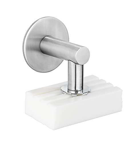 Turbo-Loc Edelstahl Magnetseifenhalter Matt, Seifenhalter mit Magnet und Turbo-Loc Wandbefestigung zum Ankleben