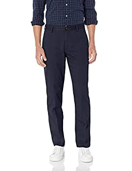 Amazon Essentials Men s Straight-Fit Wrinkle-Resistant Flat-Front Chino Pant Navy 36W x 32L