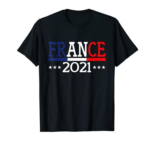 Euro 2021 Trikot Frankreich Fußball Flagge France T-Shirt