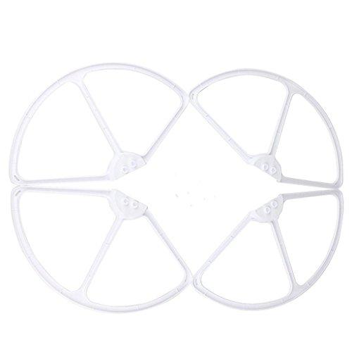 Baoblaze 4 Pezzi RC Quadricottero Accessori Drone Elica Protezioni Elica Cornice Design Compatto per Cheerson CX20 - Bianca