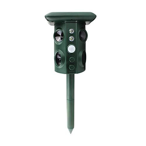 Mole Control Repelente ultrasónico del Gato, la energía Solar y 4 Altavoces luz Intermitente, for el jardín Solar a Prueba de Agua Repelente de Gato