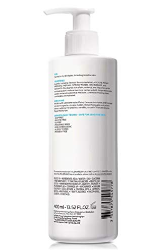 La Roche-Posay Toleriane Hydrating Gentle Cleanser, Face Wash for Normal to Dry Sensitive Skin, Oil-Free