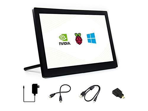 Waveshare 13.3inch HDMI LCD (H) (with case) IPS 1920x1080 Resolution Capacitive Touch Screen with Toughened Glass Cover Supports Raspberry Pi BB Black Raspbian Ubuntu