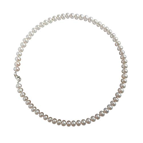 ELAINZ HEART signore collane di perle bianco d'acqua dolce per la madre,45cm A2AAA lustro finissimo 7-8mm perline coltivate d'acqua dolce