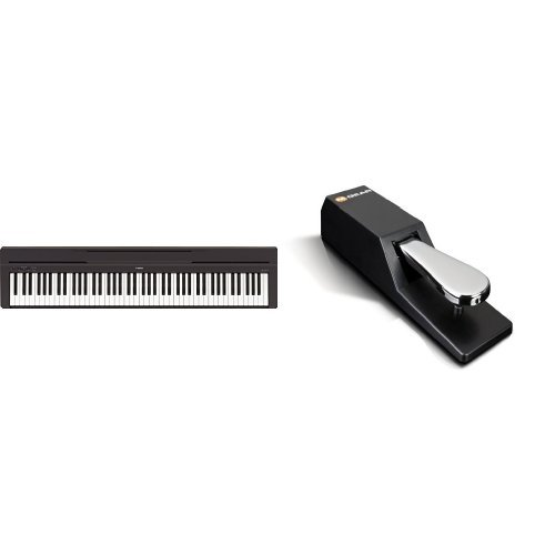 Yamaha P-45B Digital Piano schwarz + M-Audio SP-2 | Universal Sustain Pedal / Dämpferpedal Bundle