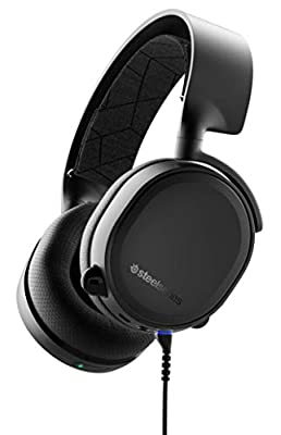 SteelSeries Arctis 3 Bluetooth, Wired and Wireless Gaming Headset for Nintendo Switch, PC, PlayStation 4, Xbox One, VR, Android and iOS, Black