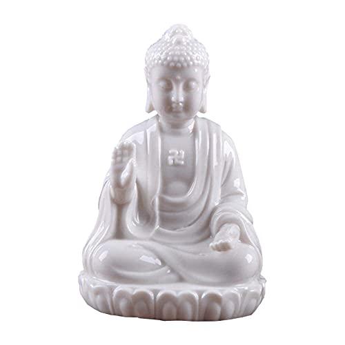 WQQLQX Estatuilla Cerámica de Buda Escultura/Amitabha Sentado en Sakyamuni Estatua de Buda Pintura Decorativa Buda Estatua Estatua Estatuilla Decoración para el hogar Regalo Estatua