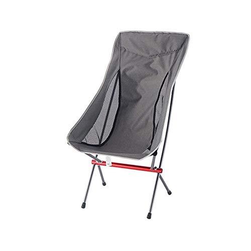 Lucky DuDu Silla Plegable de Viaje Superdo de Alta Carga Camping Silla Camping Playa Portátil Senderismo Asiento de Picnic (Color : Gray)