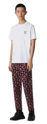 Kenzo - Camiseta deportiva para hombre, color blanco roto, 100% algodón, talla pequeña, talla pequeña blanco hueso M corto