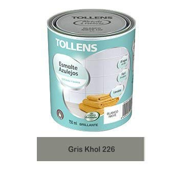 Tollens - Esmalte para azulejos al agua 750 ml (Gris Khol 226)