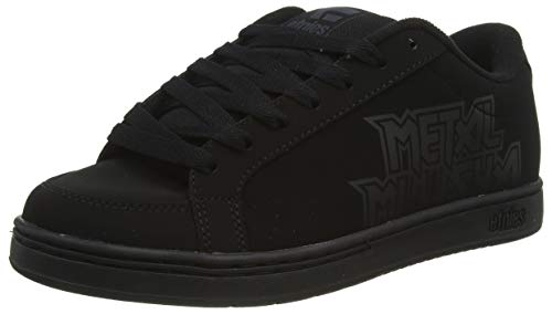 Etnies Metal Mulisha Kingpin 2, Zapatillas de Skateboard Hombre, Negro (004/Black/Black/Black 004), 45 EU